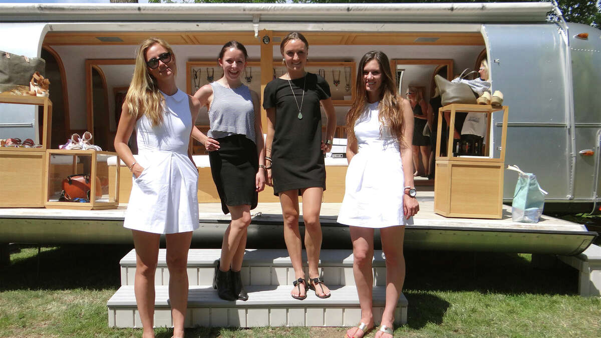 NEELY by VNB sales staff Rachel Keogh, Courtney Pelot, Lauren Beausoleil and Eliza Haury at the weekend-long Pop Shop Market on Town Hall Green.