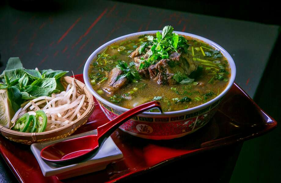 The spicy Oxtail Noodle Soup at MeKong Kitchen in San Francisco, Calif., is seen on June 13th, 2015. Photo: John Storey