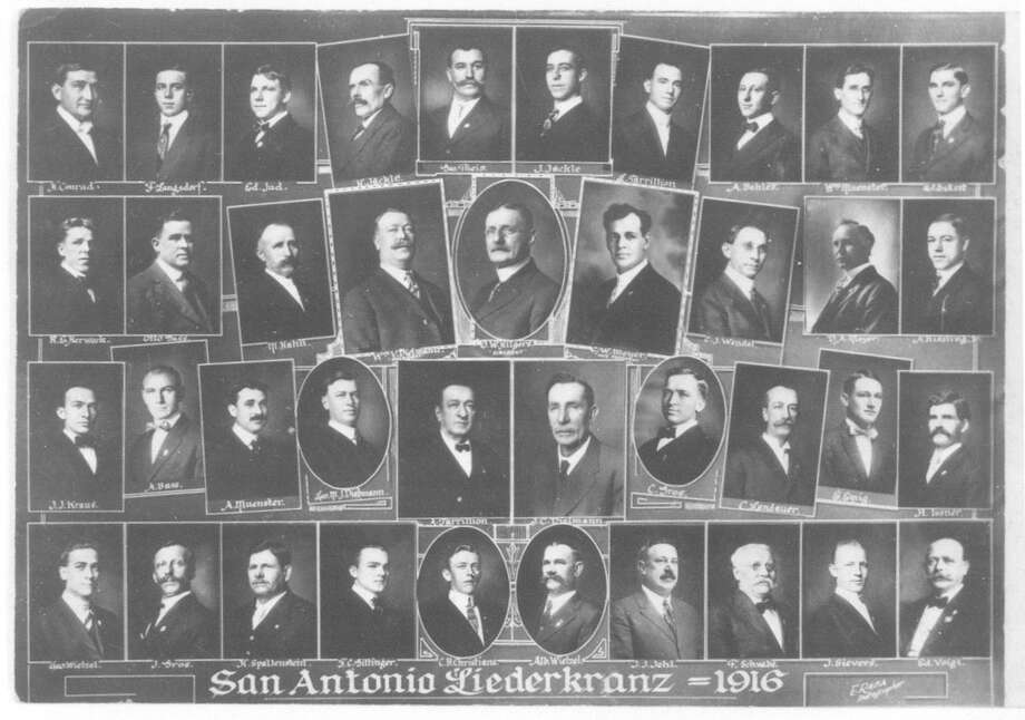 A composite photograph of the members of the San Antonio Liederkranz in 1916. Photo: Courtesy UTSA Special Collections / UTSA Special Collections