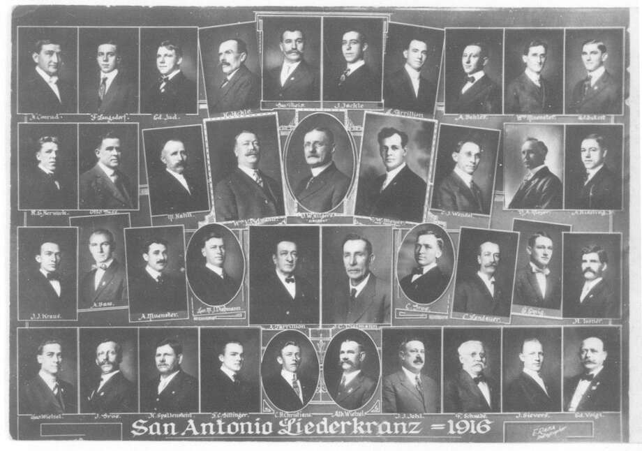 A composite photograph of the members of the San Antonio Liederkranz in 1916. Photo: Courtesy UTSA Special Collections / UTSA Special Collections