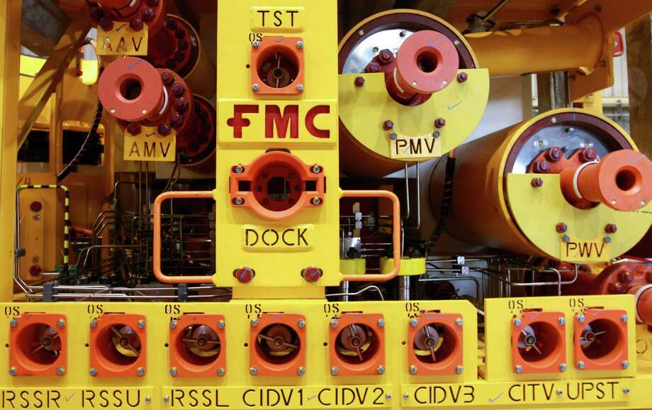 FMC Technologies, whose subsea equipment is shown, is partnering with another company to deal with costs in construction and design of subsea equipment. Photo: Melissa Phillip /Houston Chronicle / © 2014  Houston Chronicle