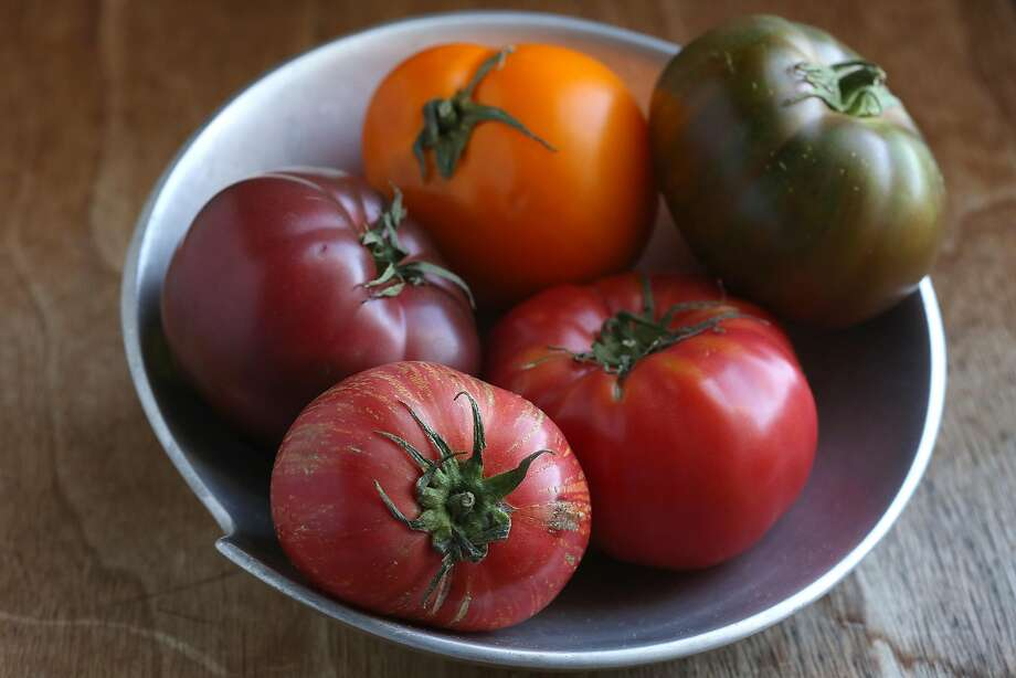 Bowl of tomatoes gathered by Molly Watson in San Francisco, California, on Friday, June 12, 2015. Photo: Liz Hafalia, The Chronicle