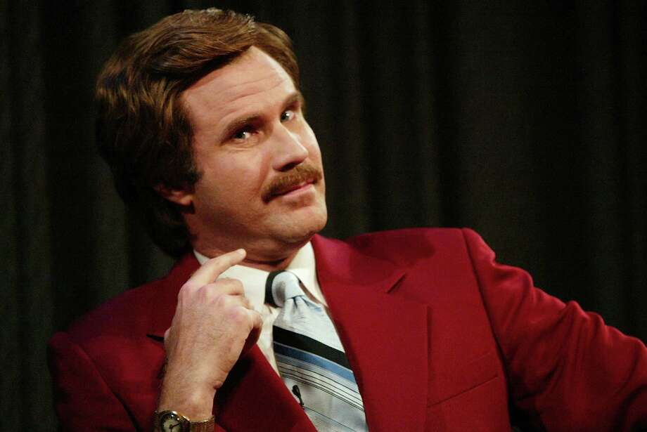 "Actor Will Ferrell aka Ron Burgundy participates in Q&A after a special screening of the film ""Anchorman: The Legend of Ron Burgundy"" at the Museum of Television and Radio July 7, 2004 in New York City. (Photo by Evan Agostini/Getty Images) Photo: Evan Agostini, Staff / Getty Images / 2004 Getty Images"