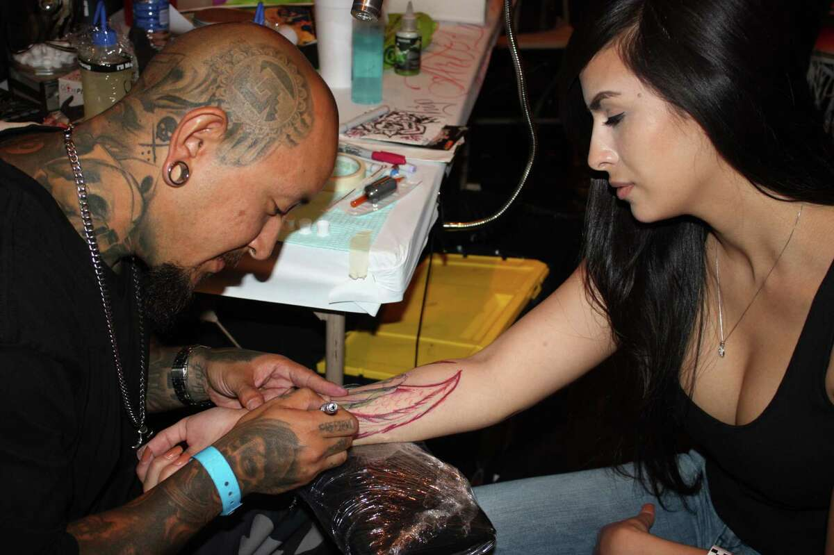 The final day of the Alamo City Tattoo show featured, you guessed it, attendees getting inked and more than a hundred tattoo artist and vendors.