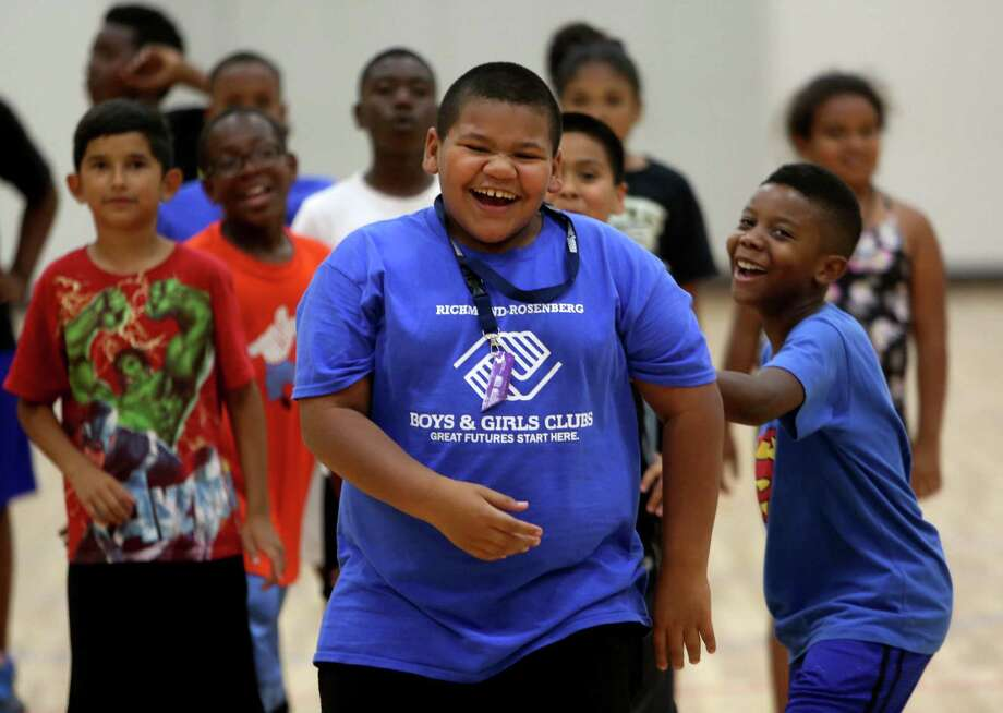 Jamal Franklin, 11, practices his free-throw shooting Friday in the gymnasium at the new Boys & Girls Club in Richmond. Photo: Gary Coronado, Staff / © 2015 Houston Chronicle