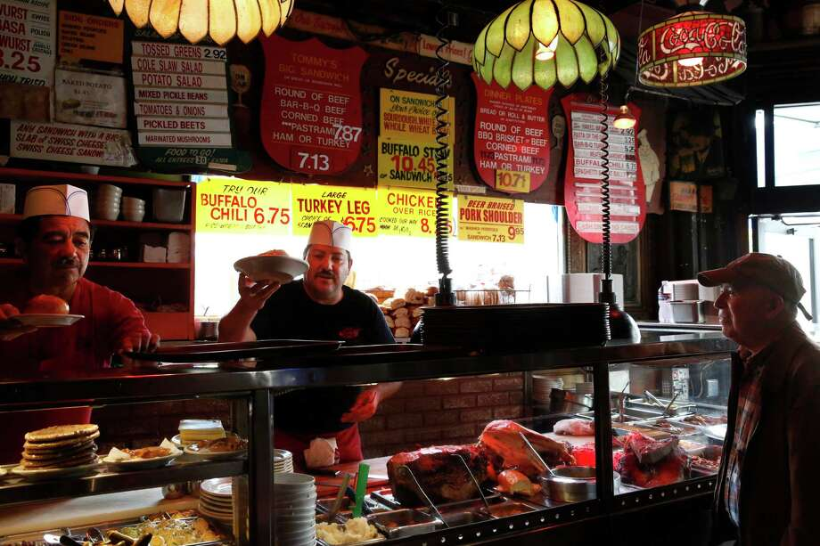 If you want a classic spot...Tommy's Joynt1101 Geary Blvd.The sandwiches are legendary, there's a bar and there are TVs. What more could you want? Photo: Leah Millis / The Chronicle / ONLINE_YES