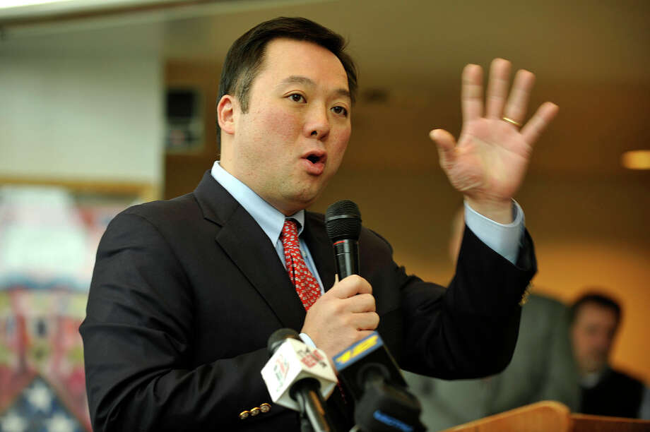 State Rep. William Tong (D-147) speaks during the National Teen Dating Violence Awareness Month press conference at the Stamford Government Center in January. Photo: Jason Rearick / Jason Rearick / Stamford Advocate
