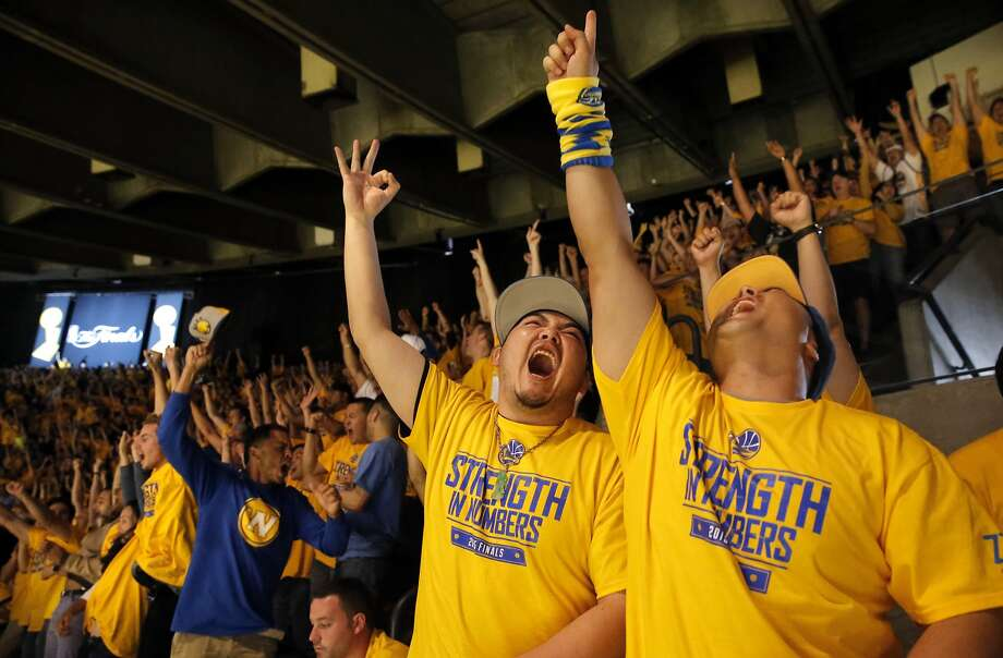 The Warriors have sold out their watch party for Game 6 of the NBA Finals on Tuesday night. Photo: Michael Macor, The Chronicle