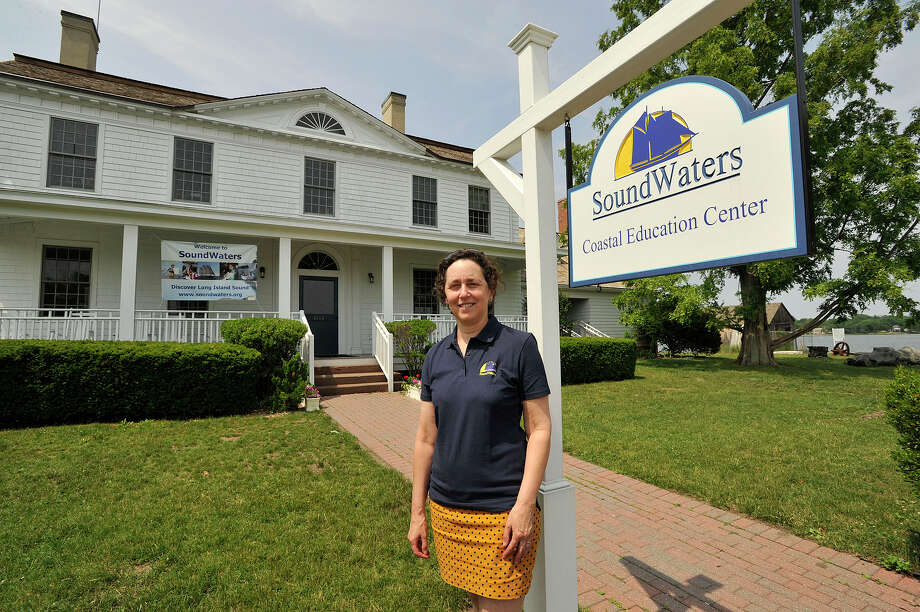 Leigh Shemitz is the president and executive director of SoundWaters on Cove Island in Stamford. Photo: Jason Rearick / Jason Rearick /Hearst Connecticut / Stamford Advocate