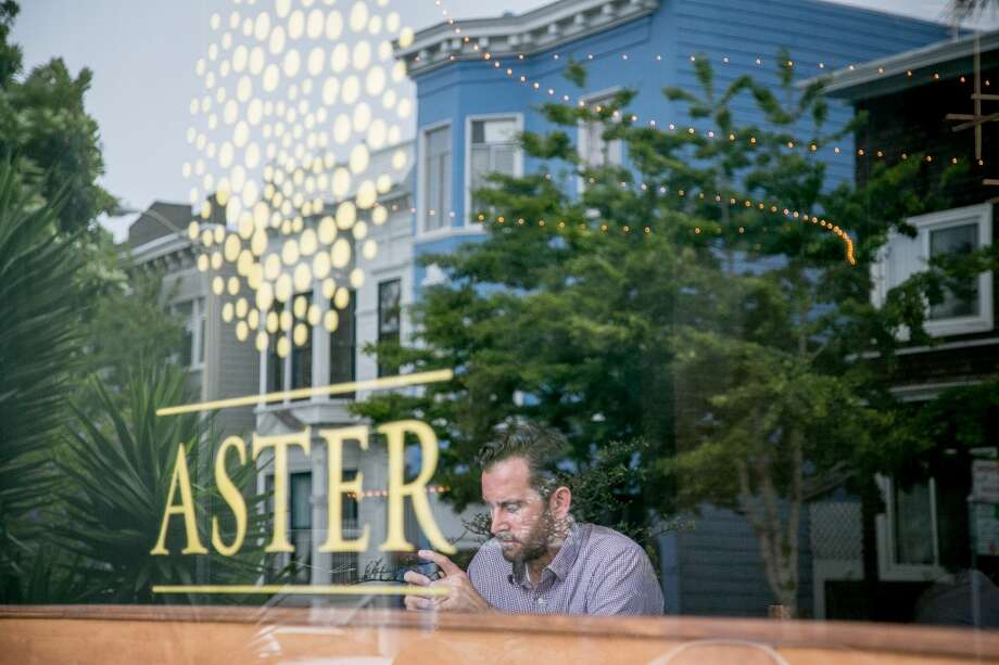 Another one of Lawrence's signs: Aster in the Mission District. Photo: Special To The Chronicle