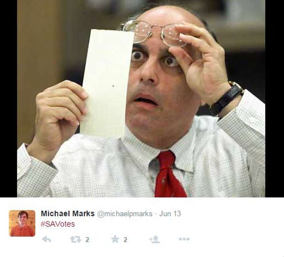 Michael Marks, @michaelpmarks, posted a photo to capture his reaction. Photo: Mendoza,  Madalyn S, Twitter.com