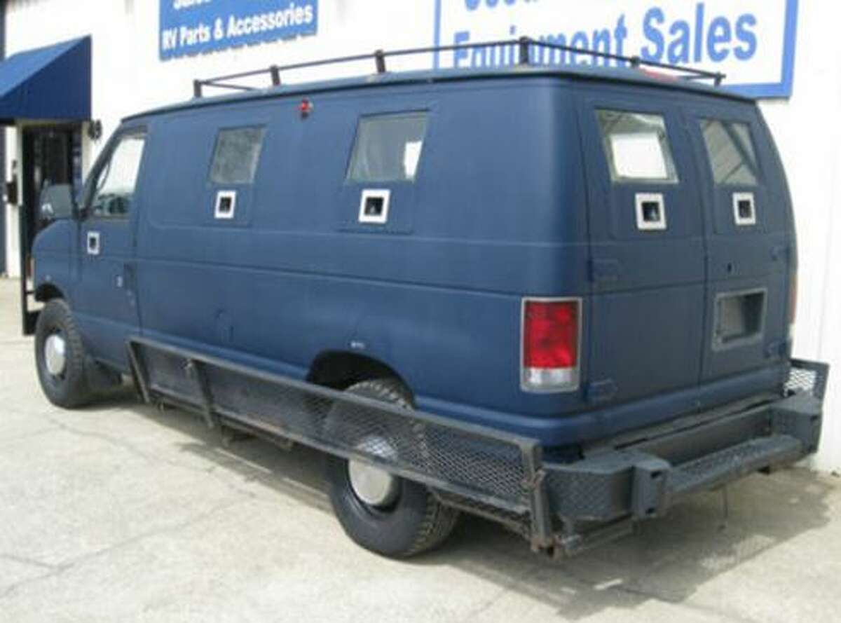 Dallas police station shooter James Boulware carried out his assault using this armored van, which was purchased on eBay.
