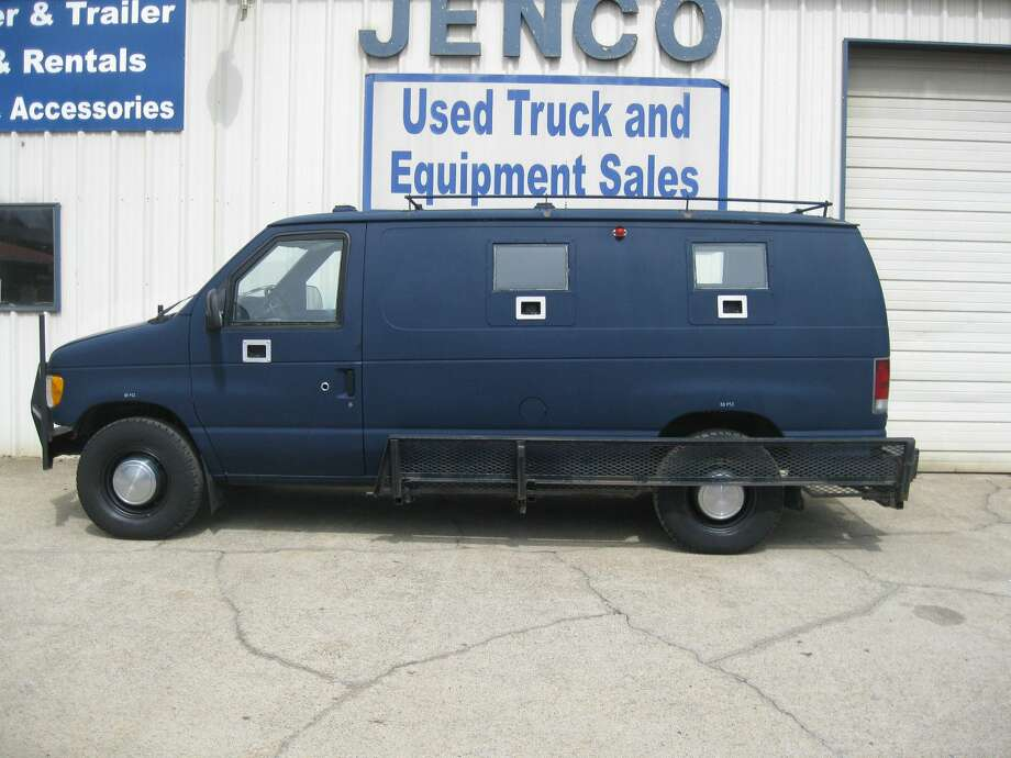 Dallas police station shooter James Boulware carried out his assault using this armored van, which was purchased on eBay. Photo: Courtesy Photo