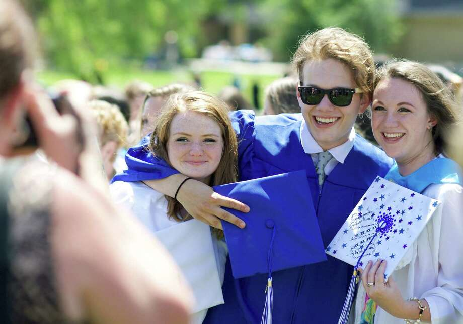 The commencement ceremony for the Class of 2015 at Shepaug Valley School in Washington, June 13, 2015 Photo: Trish Haldin / The News-Times Freelance