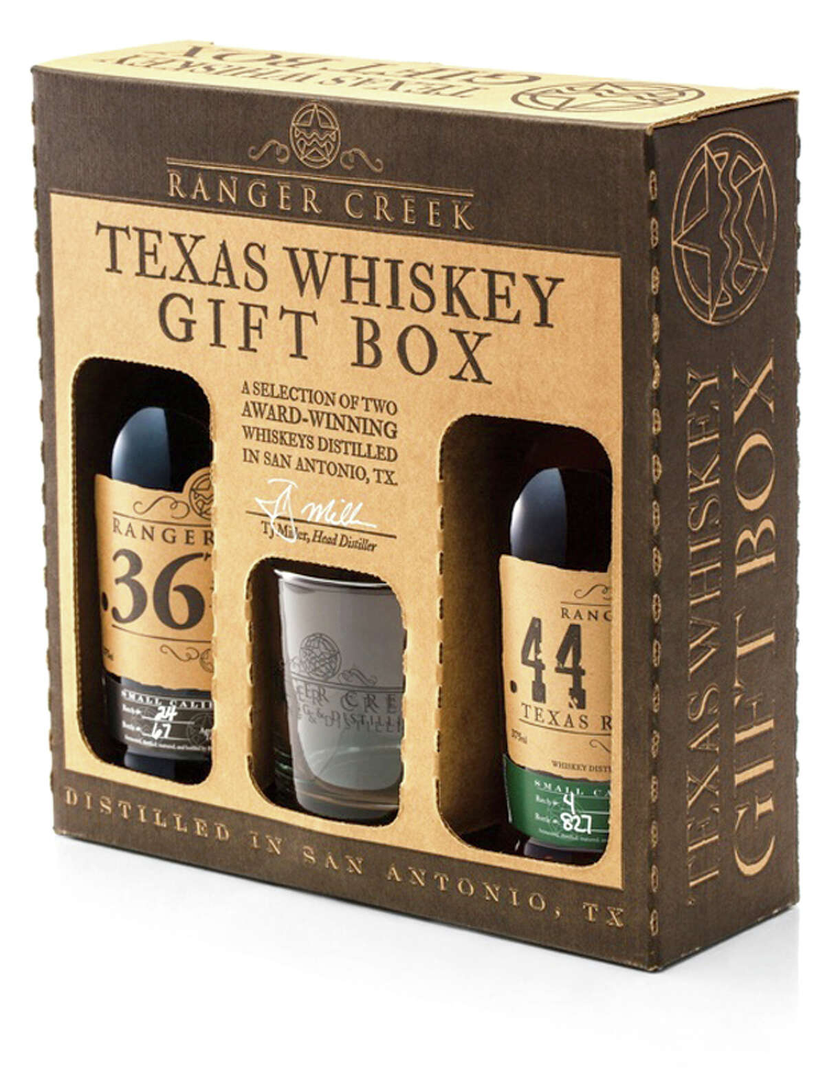 Ranger Creek Brewery & Distillery, 4834 Whirlwind Drive Treat dad this year with one of Ranger Creek's Texas Whiskey Gift Boxes. Available at Ranger Creek for a limited time for $60. Gift boxes include two of award-winning Texas whiskeys plus a lowball glass. Two options are available, the first includes .36 Bourbon and Rimfire Mesquite Smoked Single Malt. The second includes our .36 Bourbon and .44 Texas Rye. www.drinkrangercreek.com