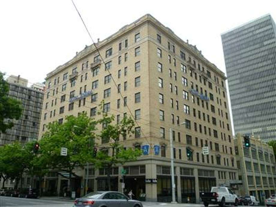 Hotel Andra, the Seattle hotel where Velva Stockton was living when police say she was soaked by her live-in caretaker.
