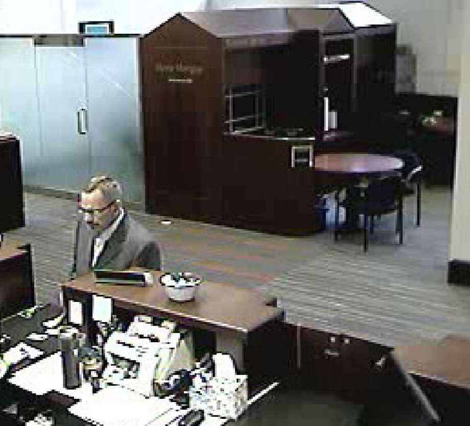 Seattle police seek this man in connection with a Monday morning bank robbery at the U.S. Bank on Fifth Avenue and Pike Street. Photo: Courtesy Seattle Police Department
