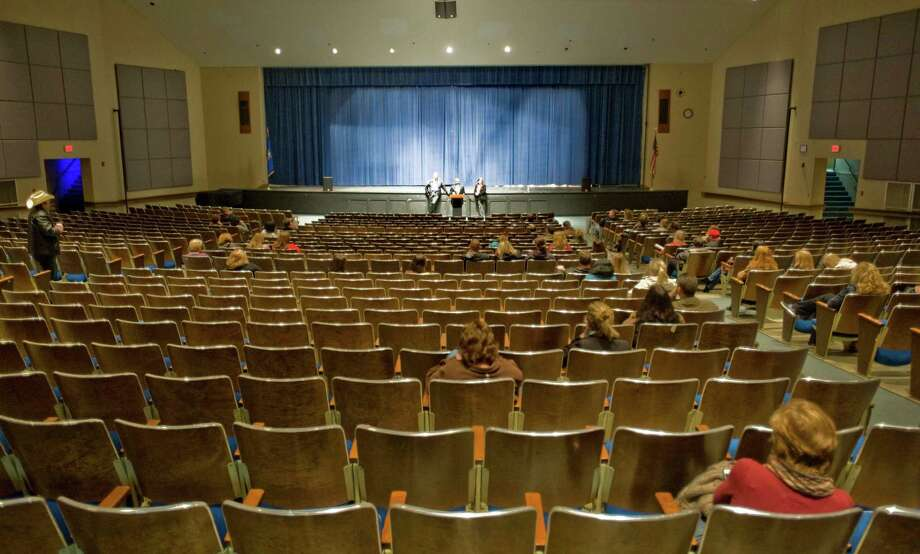 A $3.6 million renovation is proposed for the Newtown High auditorium. Photo: Scott Mullin / Scott Mullin / The News-Times Freelance