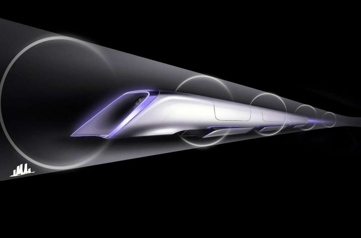 This conceptual design rendering provided by SpaceX shows a Hyperloop passenger transport capsule within a tube, the core of a high-speed system that billionaire Elon Musk suggested two years ago, that would zoom passenger capsules through elevated tubes at the speed of sound. The 400-mile trip between Los Angeles and San Francisco would take a half-hour. Musk's company, SpaceX, announced Monday, June 15, 2015 that it plans to build a one-mile test track next to its headquarters in Hawthorne, Calif. The company will hold a competition there next year with teams testing designs for Hyperloop passenger pods.(SpaceX via AP)