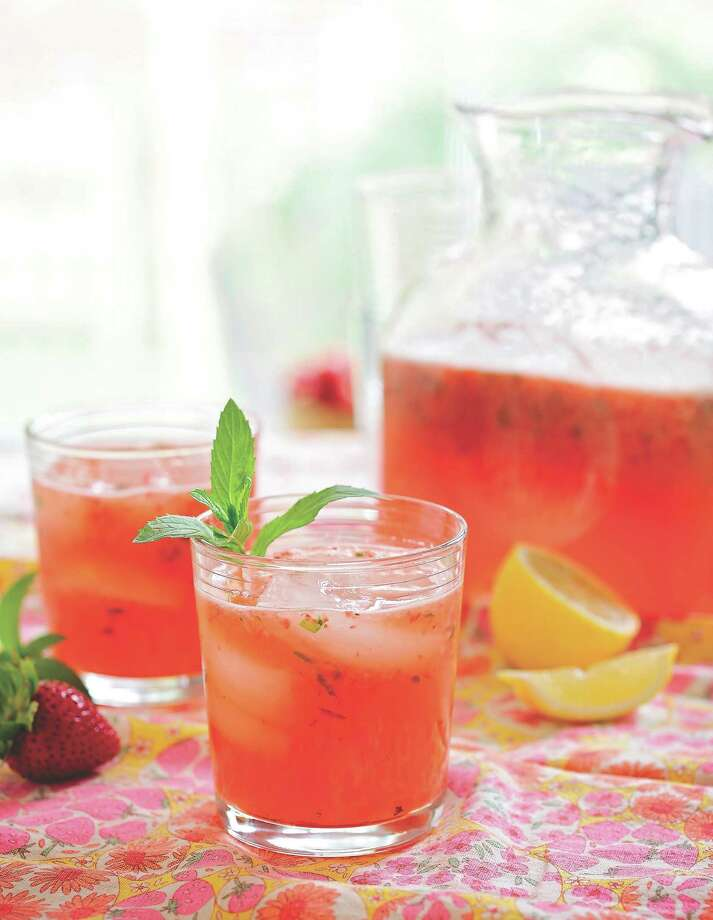 """Basil Strawberry Lemonade from """"The Outdoor Table."""" Photo: Stephanie Mullins"""