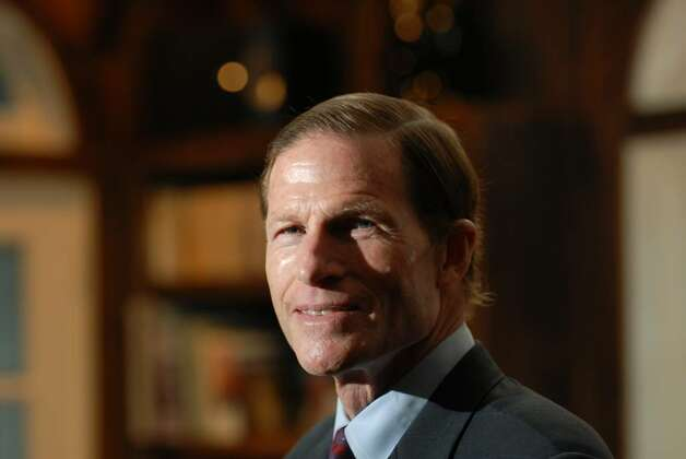 Connecticut Attorney General, Richard Blumenthal, posed in his Greenwich home, Monday, March 8th, 2010.  Blumenthal, a democrat, will be running for U.S. Senate. Photo: Bob Luckey / Stamford Advocate
