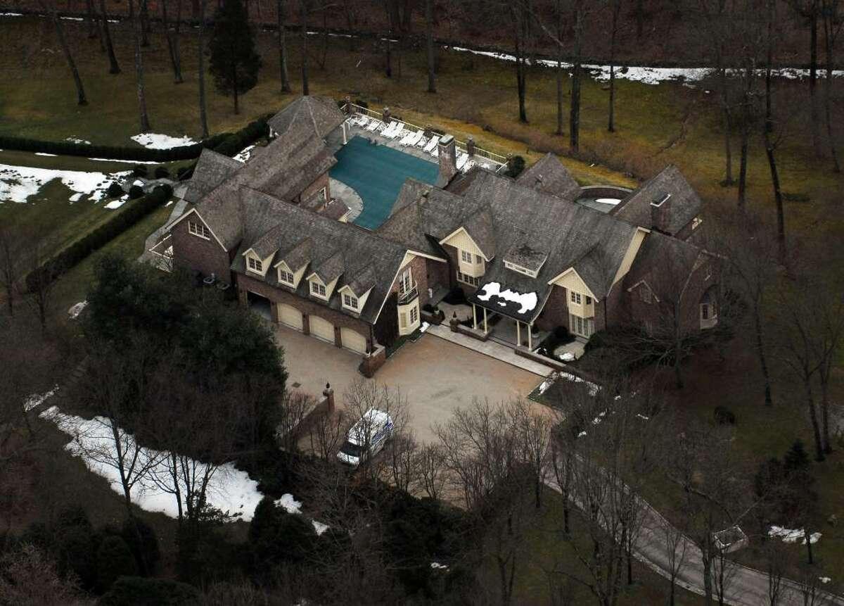 Republican senate candidate Linda McMahon's home on Hurlingham Drive, in Greenwich, Conn. Morgan Kaolian/AEROPIX