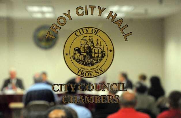 Troy City Council  (Michael P. Farrell/Times Union) Photo: Michael P. Farrell / 00027159A