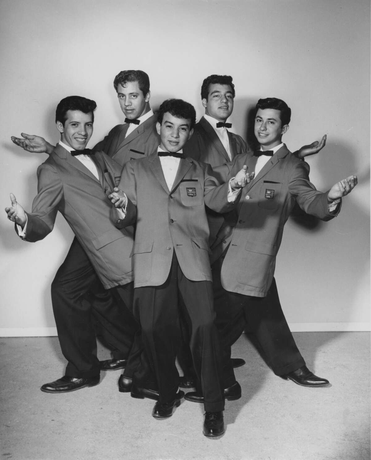 In 1960, the Royal Jesters' lineup was Toni Arce (from left), Louis Escalante, Henry Hernandez, Mike Pedraza and Oscar Lawson.