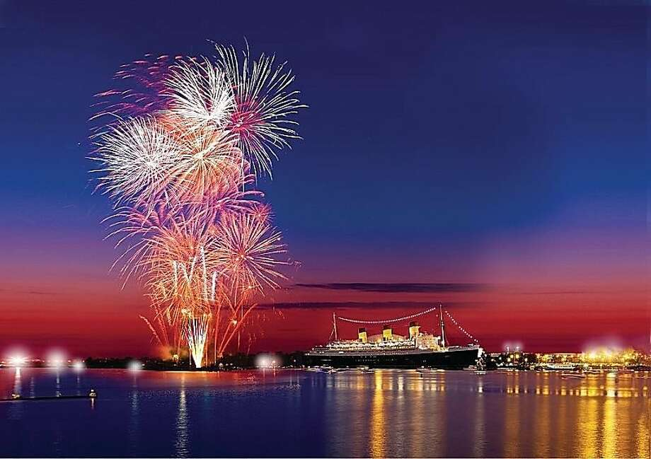 Fourth of July festivities around the Queen Mary in Long Beach. Photo: The Queen Mary
