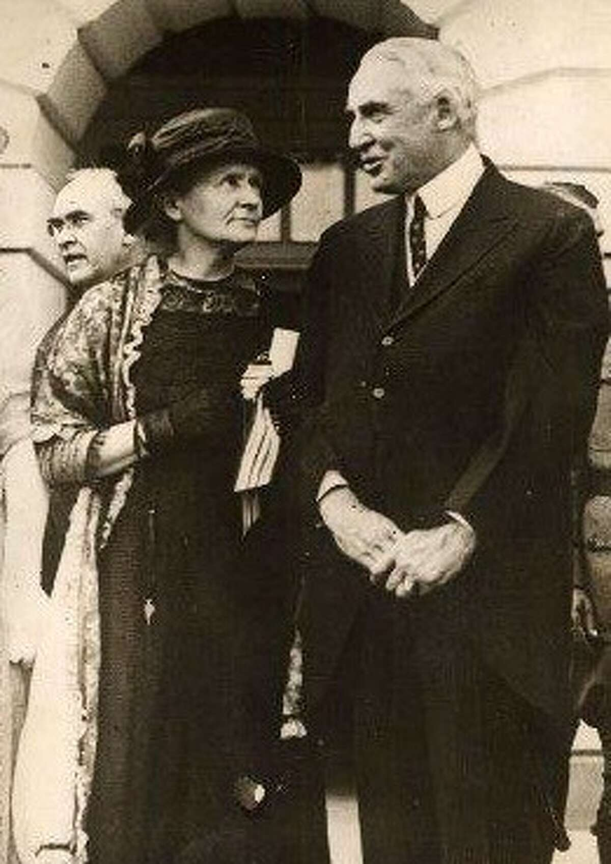 Marie Curie with President Warren Harding.