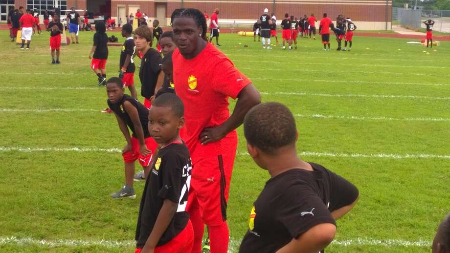 Port Arthur native and Kansas City Chiefs All-Pro running back Jamaal Charles was in Southeast Texas on Saturday for the fifth annual Jamaal Charles Family Foundation Camp. Kendrick Johnson/The Enterprise