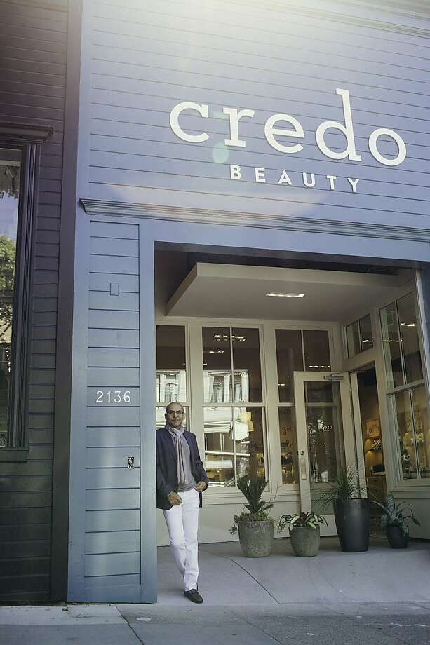 Shashi Batra, founder and CEO of Credo, which specializes in natural and organic products, at the Fillmore Street store. The new shop is the first brick-and-mortar for the online emporium. Photo: David Vergne, Credo