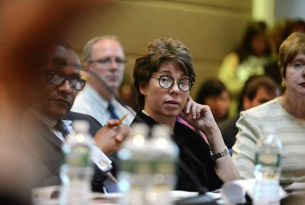 Regents Chancellor Merryl Tisch, center, listens to comments during a Board of Regents meeting Monday afternoon, June 15, 2015, at the State Education Building in Albany, N.Y. (Will Waldron/Times Union) Photo: WW