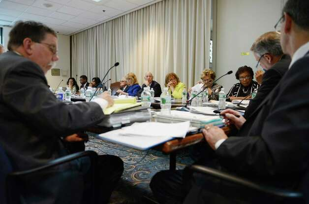 Regents members gather for a meeting of the Board of Regents Monday afternoon, June 15, 2015, at the State Education Building in Albany, N.Y. (Will Waldron/Times Union) Photo: WW