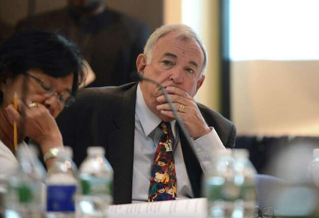 Regents member Roger Tilles listens to comments during a Board of Regents meeting Monday afternoon, June 15, 2015, at the State Education Building in Albany, N.Y. (Will Waldron/Times Union) Photo: WW