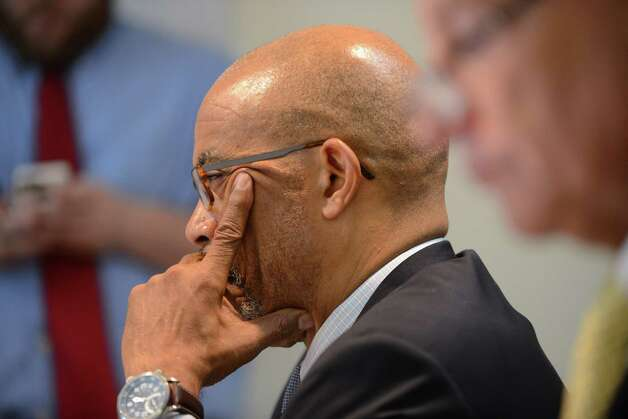Regents member Lester W. Young, Jr. listens to comments during a Board of Regents meeting Monday afternoon, June 15, 2015, at the State Education Building in Albany, N.Y. (Will Waldron/Times Union) Photo: WW
