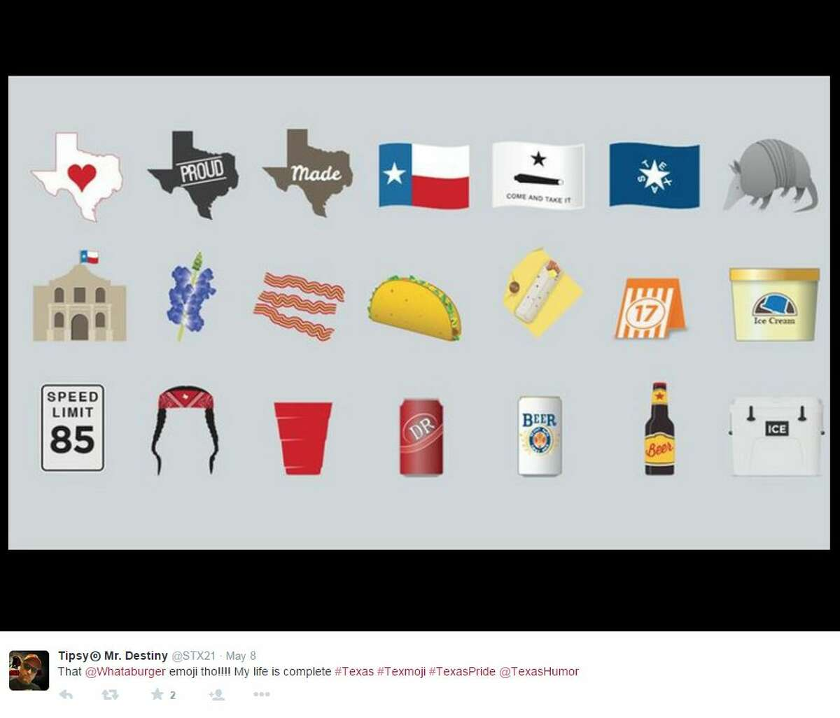 The lives of texting Texans got a lot easier when the TexMoji app, stocked with hundreds of tiny Lone Star-centric emoticons, was released in the Apple App Store.