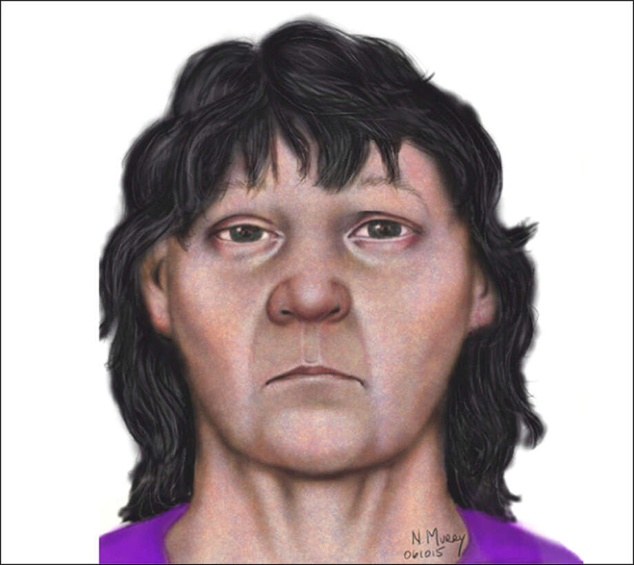 Police sketch of the woman found in the suitcase.