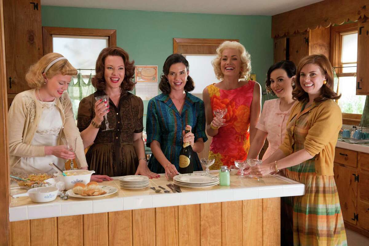 """The premiere episode of """"The Astronaut Wives Club"""" airs at 7 p.m. Thursday on ABC. Starring, from left, are Zoe Boyle, Erin Cummings, Odette Annable, Yvonne Strahovski, Azure Parsons and Joanna Garcia Swisher."""