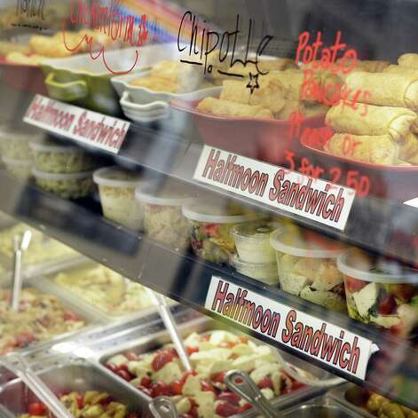 Deli counter at the Halfmoon Sandwich & Salad Shoppe on Route 9 Tuesday May 26, 2015 in Clifton Park, NY. (John Carl D'Annibale / Times Union) Photo: John Carl D'Annibale / 00031952A
