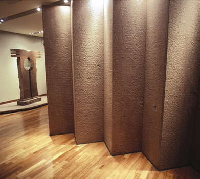 Moroles installation at the crow collection in dallas also was