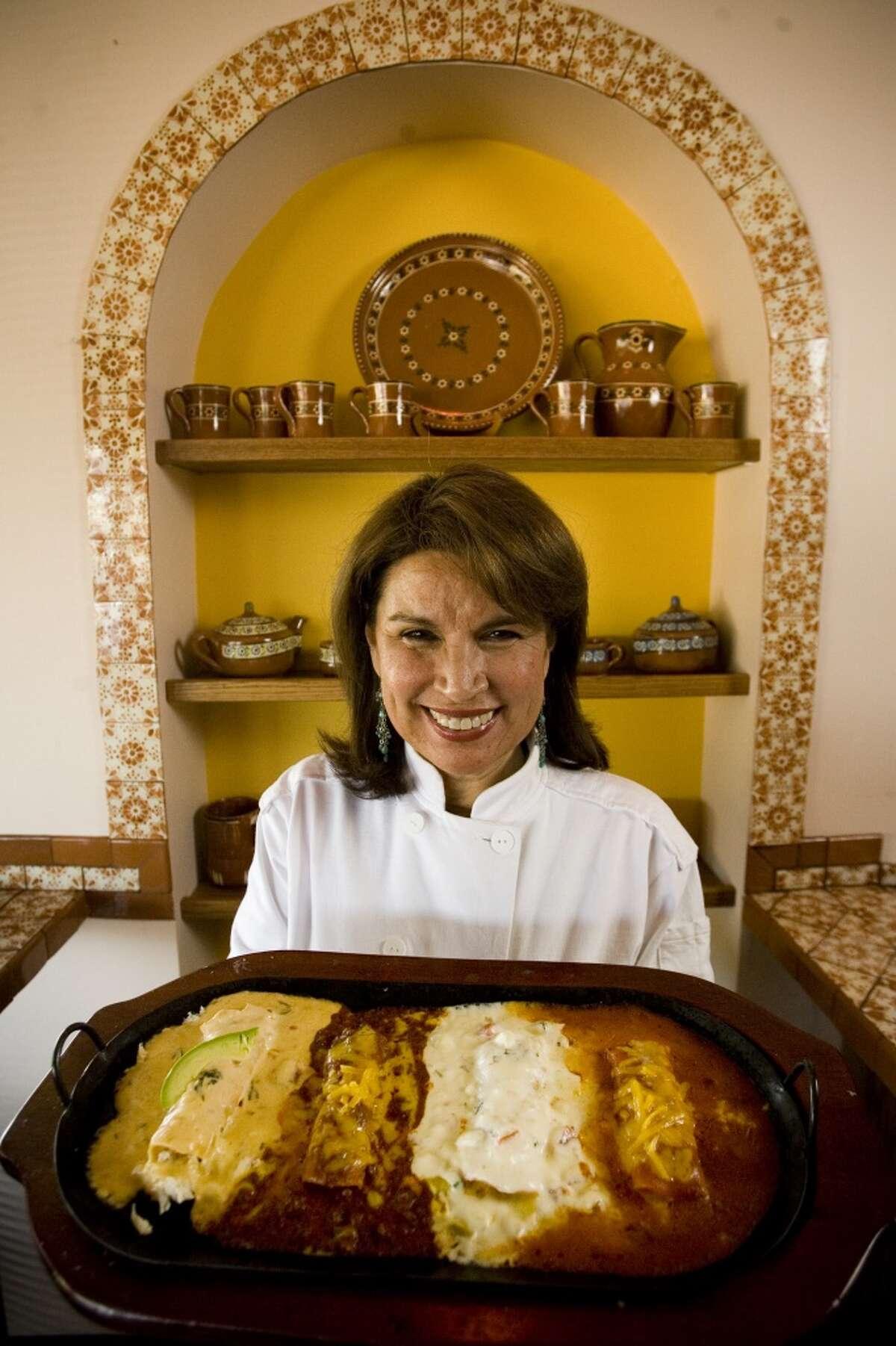 Sylvia Casares, chef/owner of Sylvia's Enchilada Kitchen. Casares, known as the Enchilada Queen of Houston.