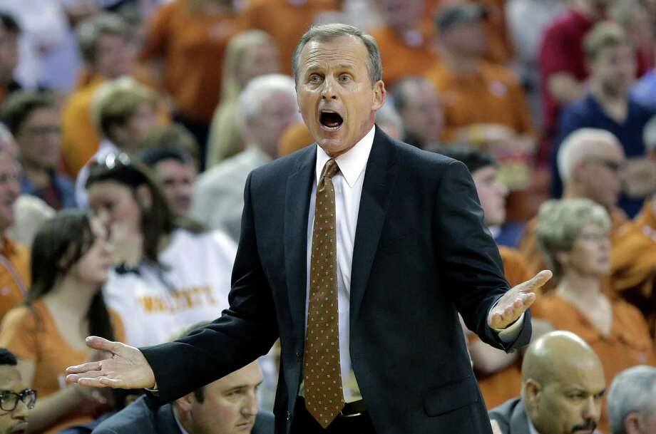 Texas head coach Rick Barnes calls to his players during the first half against Iowa State in Austin on Feburary 2015. Photo: Eric Gay /Associated Press / AP
