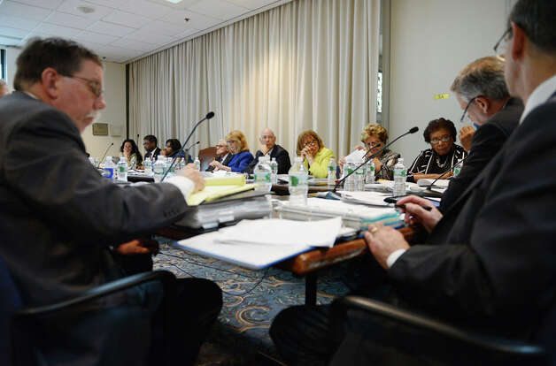 Regents members gather for a meeting of the Board of Regents Monday afternoon, June 15, 2015, at the State Education Building in Albany, N.Y. (Will Waldron/Times Union) Photo: WW, Albany Times Union
