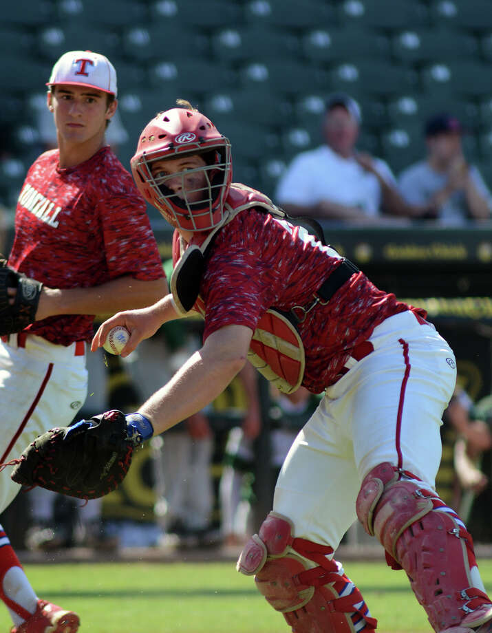 Tomball junior catcher Josh Breaux is part of a solid corps of returnees who hope to get the Cougars back to the state championship round in 2016. Photo: Jerry Baker, Freelance