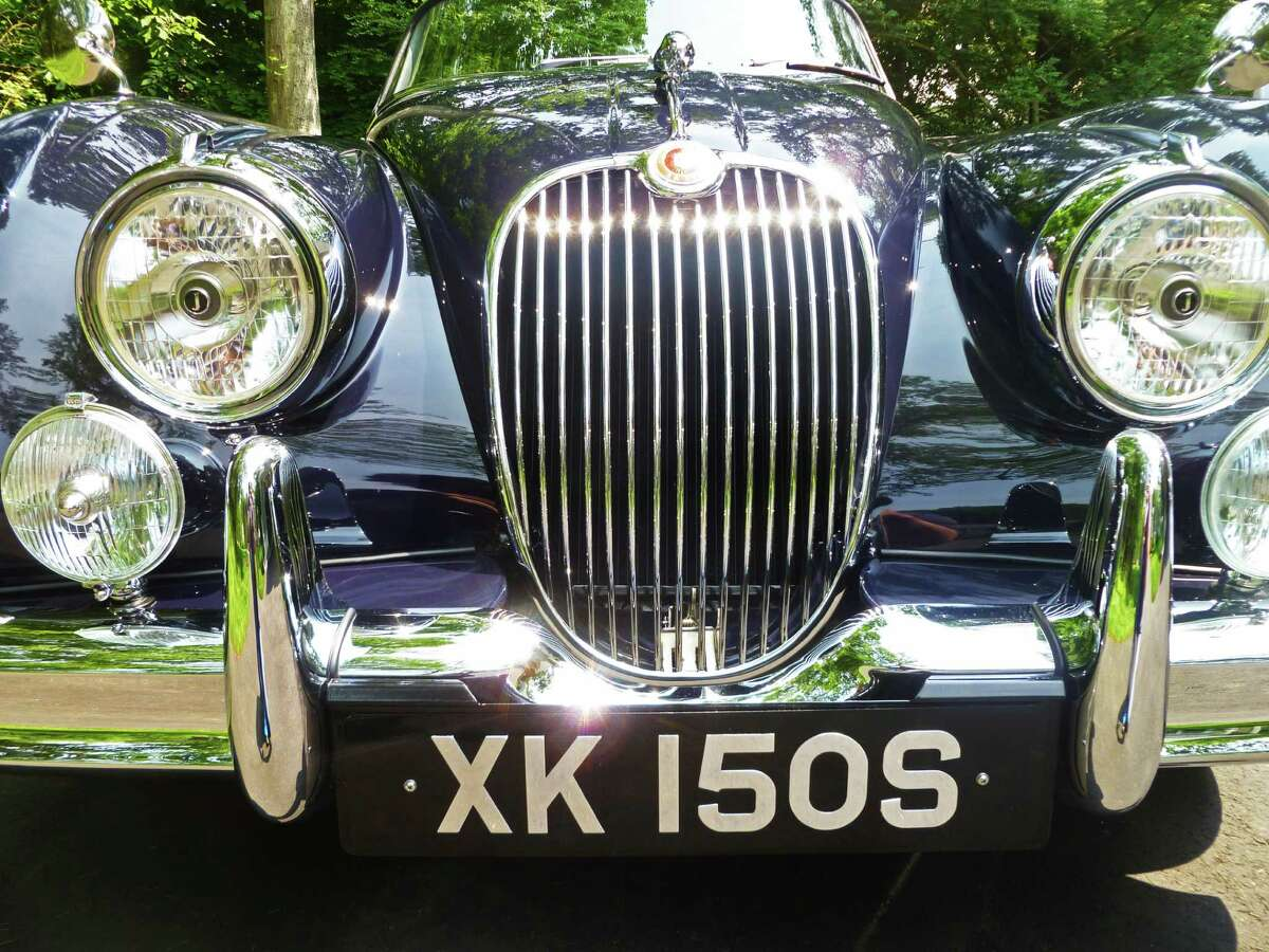 A 1958 Jaguar XK-150, owned by David Porter of Darien, Connecticut. The car will be among dozens of vintage and collector automobiles that will be on display at the Darien Auto Collector's Father's Day Car Sho June 21, 2015.