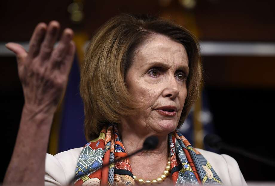 Nancy Pelosi speaks during a news conference on Capitol Hill in Washington, Thursday, June 4, 2015.  Photo: Susan Walsh, Associated Press