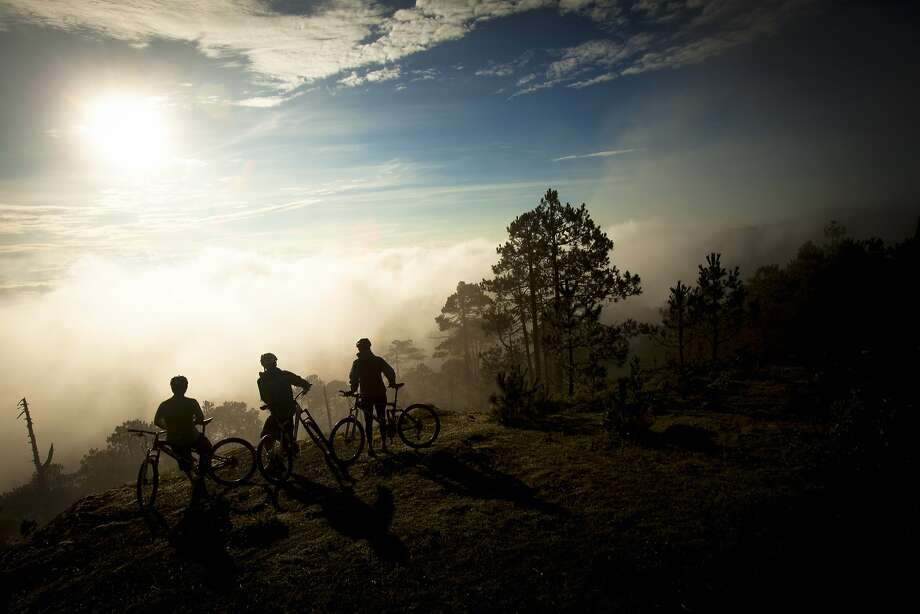 Watching the sun rise over the cloud forest of the Sierra Norte in Oaxaca is part of the experience on H+I Adventures' mountain biking tours in the region. Mountain Biking on the Tequila Trail near Oaxaca, Mexico. Photo: Trevor Clark