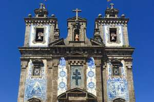 Pretty Porto, Portugal, covered with colorful tiles - Photo