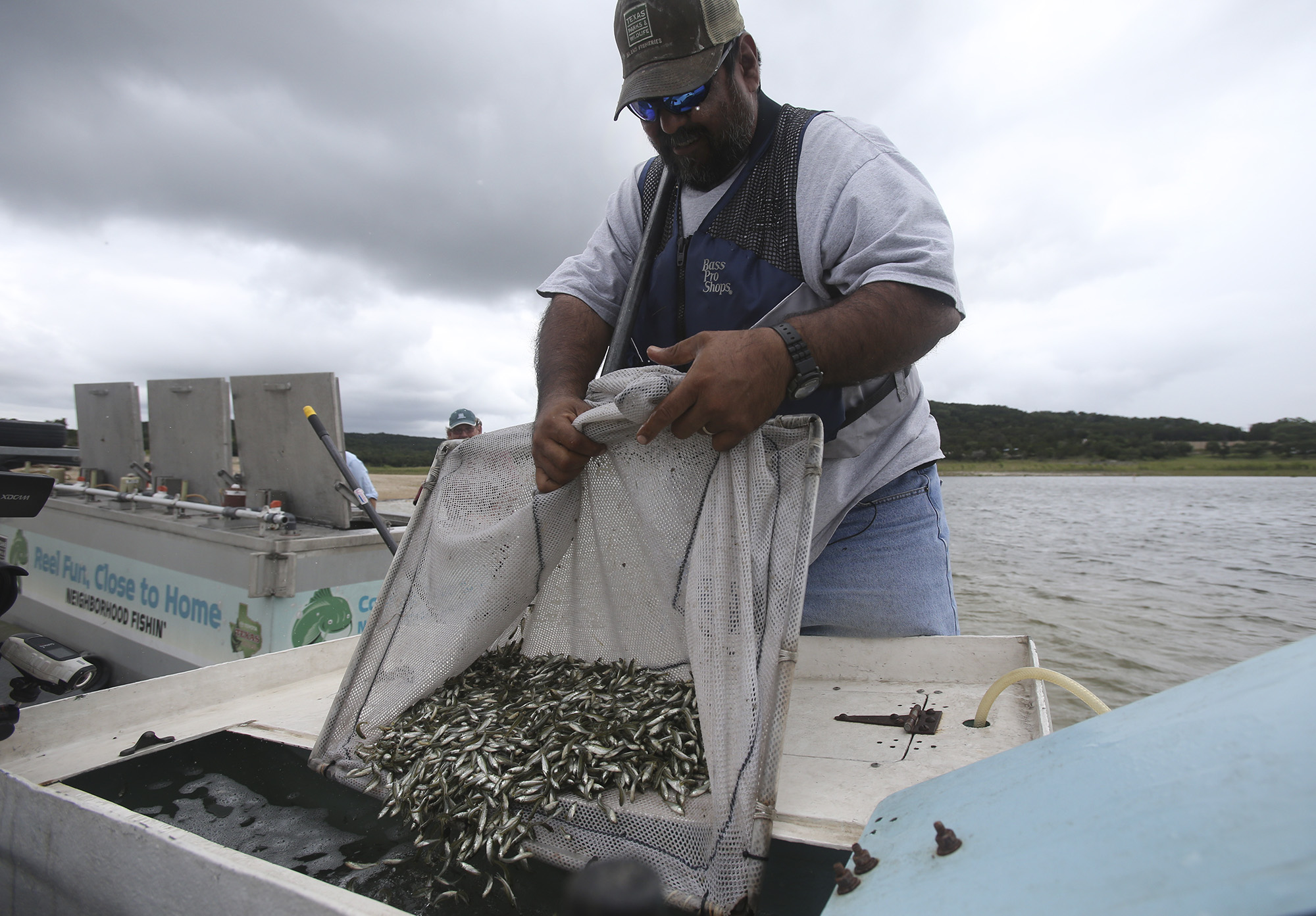 Stocking up for future fish stories san antonio express news for Fish stocking texas